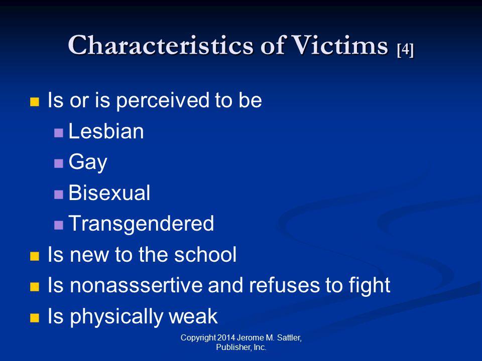 Characteristics of Victims [4]